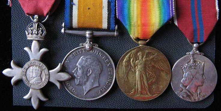 1914-1966 Group of Four MBE, BWM,Victory Medal, Queens Coronation Medal 1953 To:43183 TPR W.J. Inskip N.Z.E.F. Comes with some copies of paperwork.