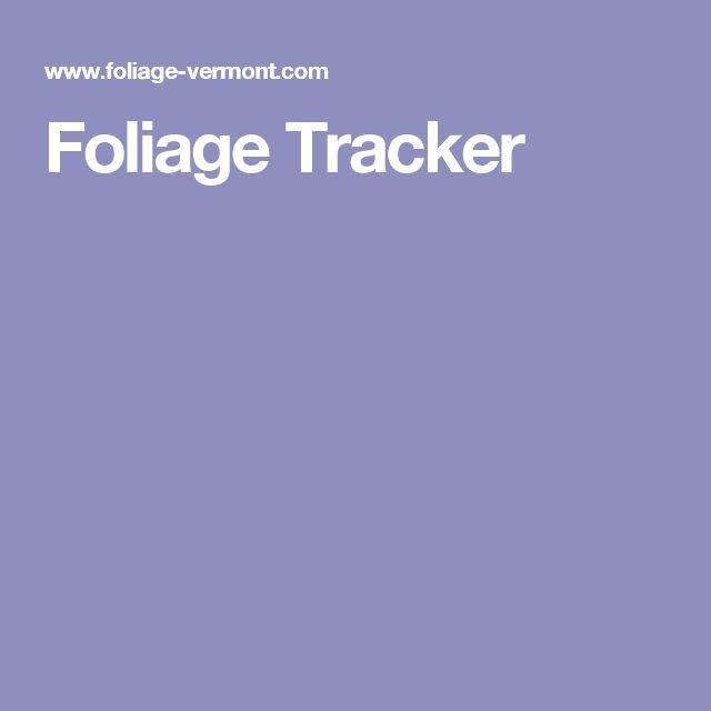 Foliage Tracker