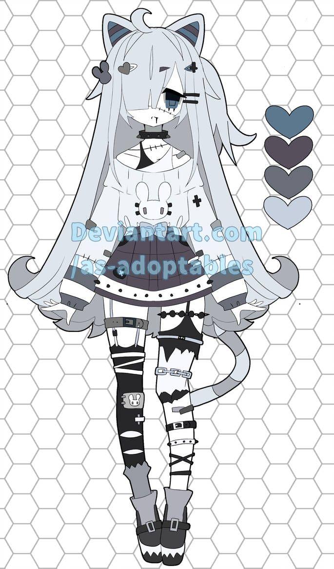 Zombie Neko Adoptable Closed By Https Www Deviantart Com As Adoptables On Deviantart Cute Art Anime Drawing Styles Anime Zombie