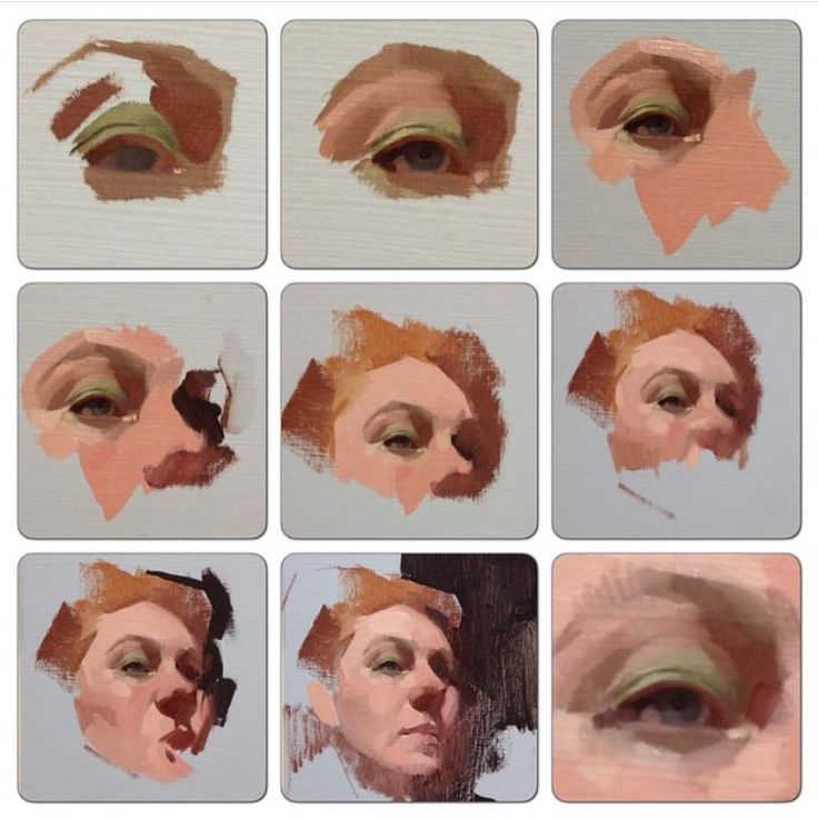 """""""Here's a repost of a class demo where I started with the eyeball and painted out. #painting #feliciaforte #portrait #allaprima #figurativepainting…"""""""