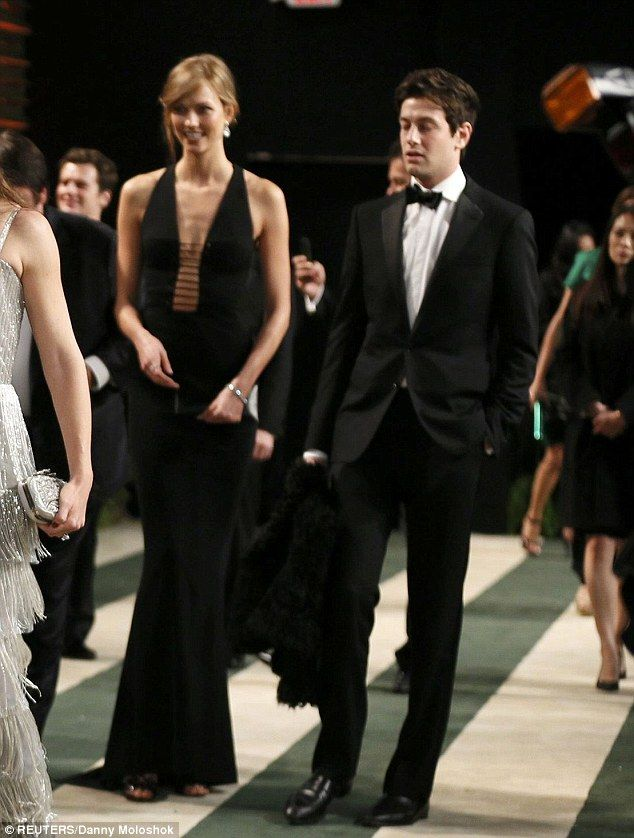 Harvard-educated beau: A week ago, Kloss donned a plunging Azzedine Alaïa gown to attend t...