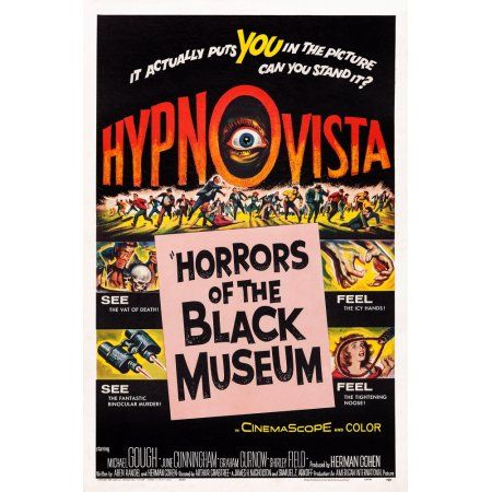 Horrors Of The Black Museum Canvas Art - (18 x 24)