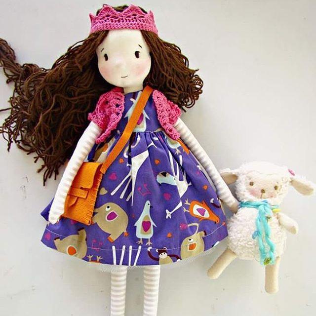 Nina #fabricdoll #handmadedolls #madewithlove