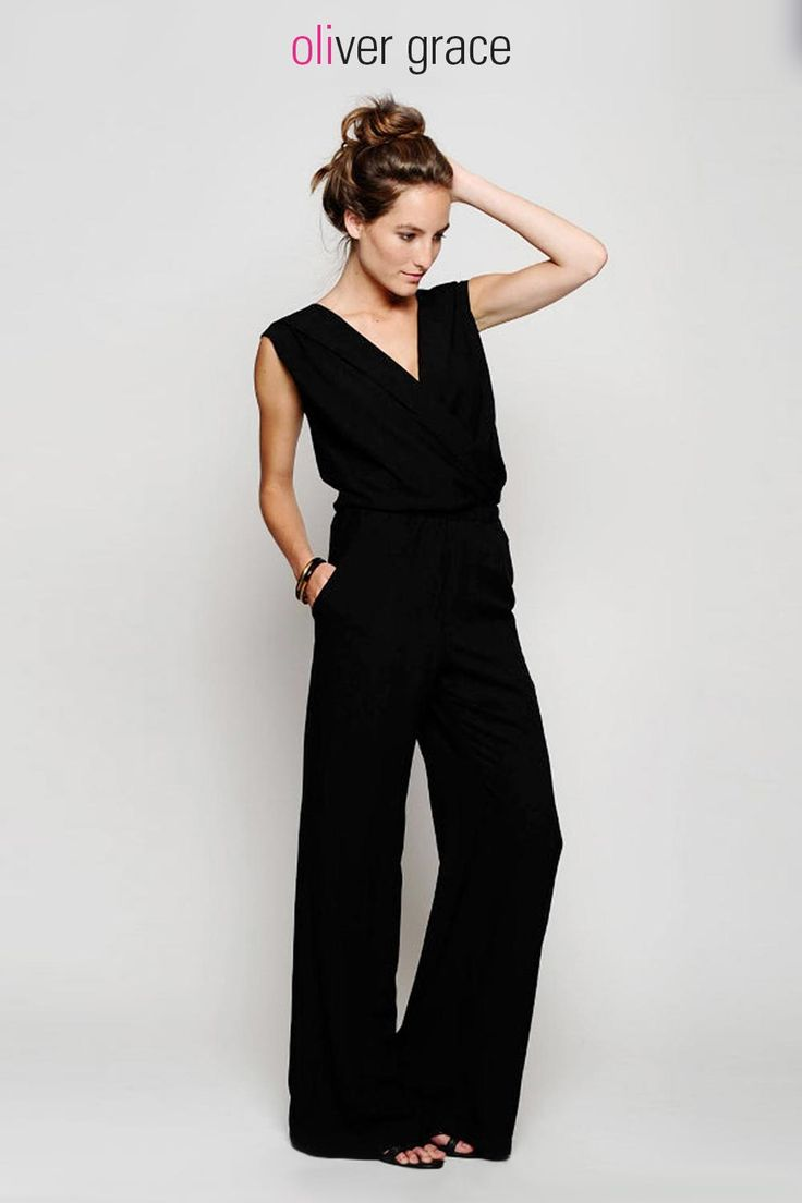 Jumpsuits work for everybody and every body. Sophisticated and slimming, a black jumpsuit looks effortlessly pulled together, so you can wear this trend with confidence.