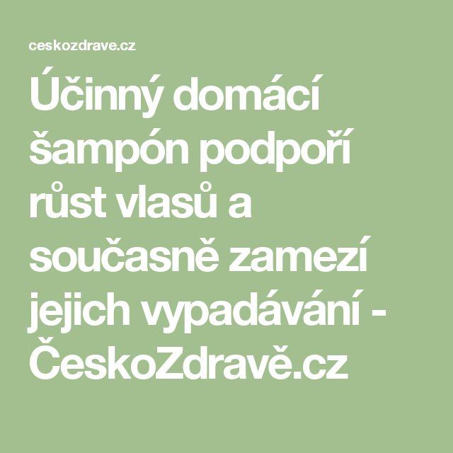 Účinný domácí šampón podpoří růst vlasů a současně zamezí jejich vypadávání - ČeskoZdravě.cz