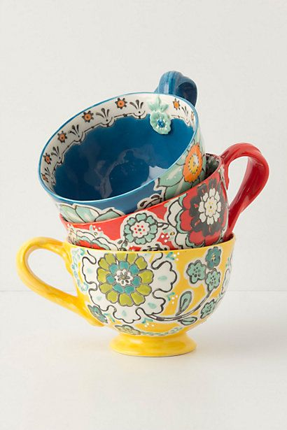 #FlowerShop   Ayaka Mug *How cheerful it would be to wake up and have your morning coffee in one of these lovelies!*