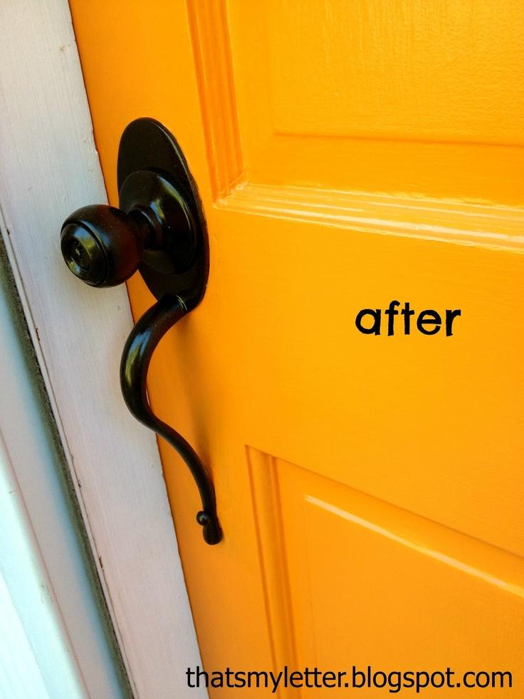 Paint Front Door Hardware I Used Rustoleum Universal