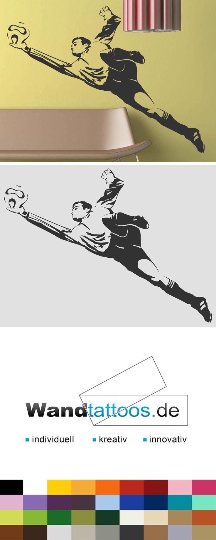 Wandtattoo Fußball Torwart als Idee zur individuellen Wandgestaltung. Einfach Lieblingsfarbe und Größe auswählen. Weitere kreative Anregungen von Wandtattoos.de hier entdecken!