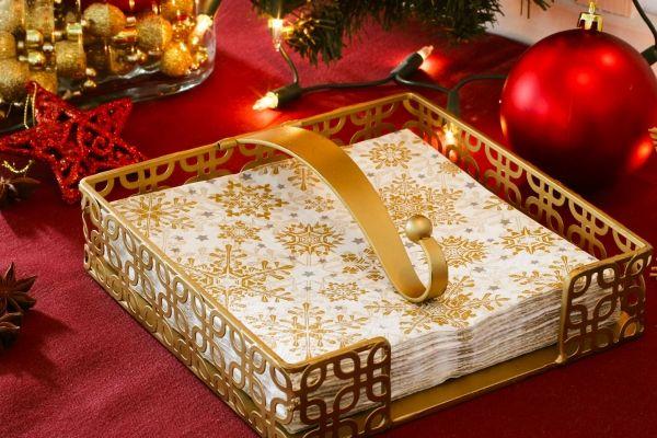 Serwetnik metalowy PAW RUSTICO GOLD