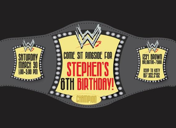 13 best love it images on pinterest wwe wrestlers birthday wrestling birthday invitation by happygirlcreative on etsy 1800 cute idea filmwisefo