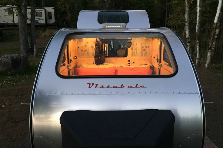 Forget sleeping in a tin can: The Vistabule boasts picture windows that make other teardrop campers look claustrophobic.