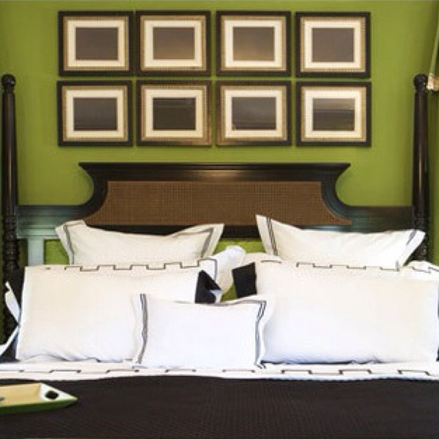 70 Master Bedroom Decorating Ideas Hang Multiple Uniform Sized Picture Frames With Simple Artwork Side By Side Above Your Bed This Easy Trick Is A Great