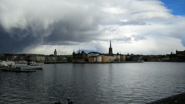 Storm coming over Stockholm
