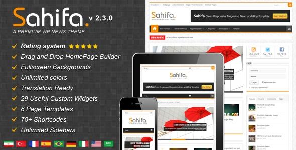 Sahifa - Responsive WordPress News,Magazine,Blog - ThemeForest Item for Sale $45