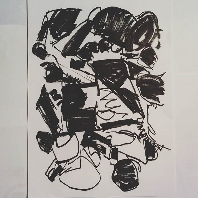 #inktober day 19 - abstract drawing by artist David Andrews. (#abstract #ink #drawing #marker #pen #art #blackandwhite #markers #inktober2016)