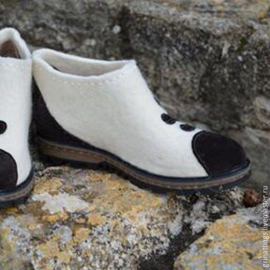 """Купить Туфли валяные """"Замшевые лапки"""" - туфли, туфли женские, туфли ручной работы"""