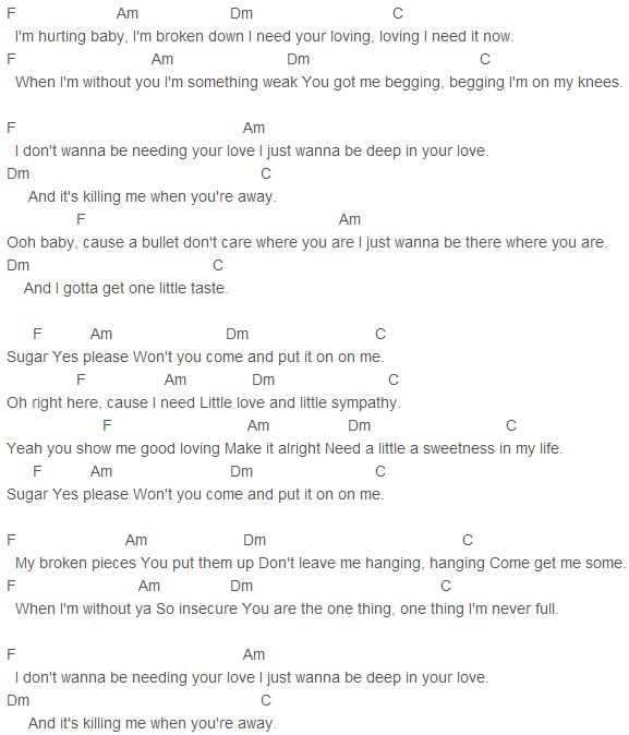 Ellie goulding your song lyrics and chords