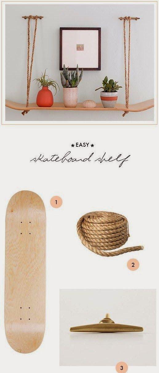 Peças bacanas e descoladas que reaproveitam o skate e suas peças.