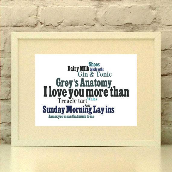 Personalised I love you more than  Wedding