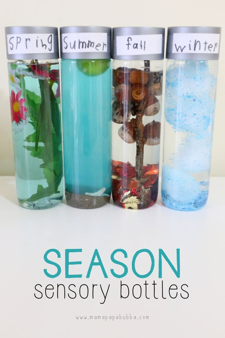 Season Sensory Bottles for Toddlers and Preschoolers!