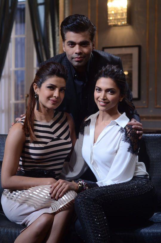 Deepika Priyanka Sip Koffee With Karan Koffee With Karan Priyanka Chopra Deepika Padukone