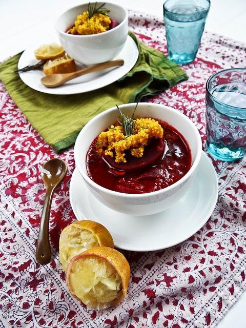 beet & maitake mushroom stew w/ turmeric quinoa   Hanukkah/ Rosh ...