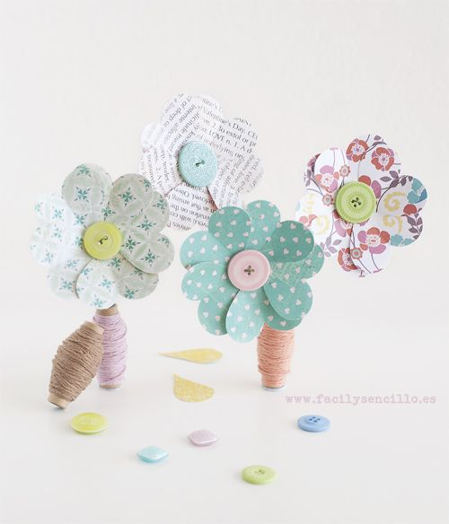 diy flower tut - I think in spanish - but you can always translate through google!