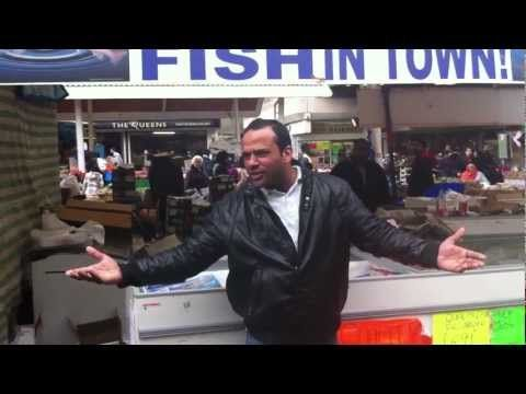 One 1 Pound Fish, Queens Market, Upton Park, London E13 (THE Original)    GO WATCH THIS!!!!!