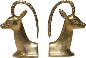 Fab Brass Antelope Bookends via @OneKings Lane Vintage & Market Finds