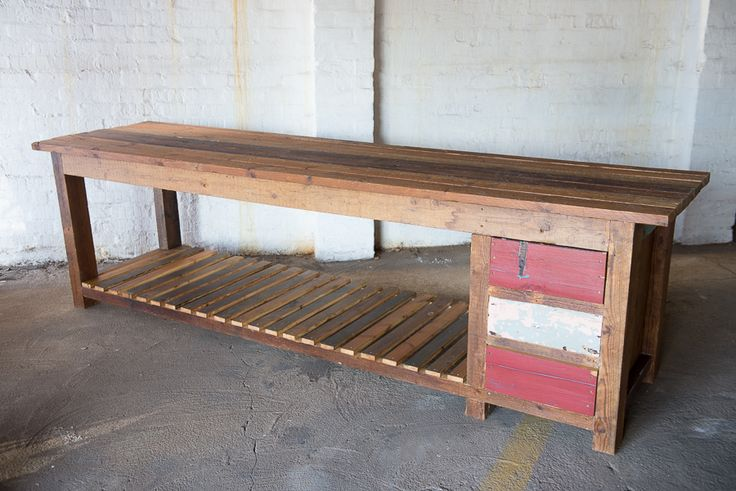 #NorthcliffAntiques This rustic counter/ server has been handmade from reclaimed wood. Order yours to your size specifications and preferred colour palette from Adelle at adelle.northcliffantiques@gmail.com #Johannesburg #AntiqueShops #Reclaimed #Kitchen #Freestanding #Furniture