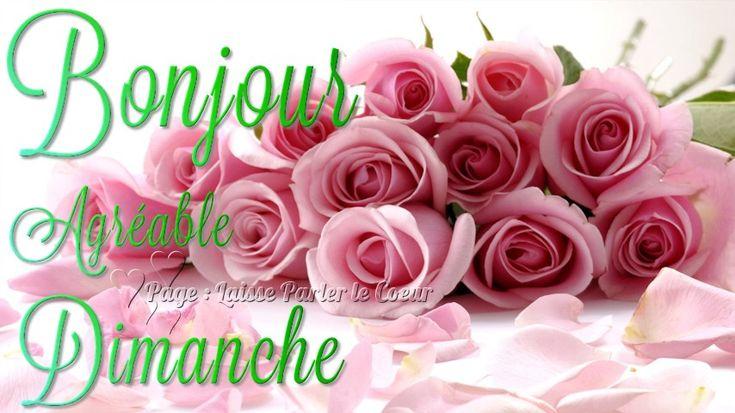 Dimanche image #6087 - Bonjour, Agréable Dimanche - Bouquet, Roses. Partager cette photo sur Facebook, Twitter et WhatsApp.