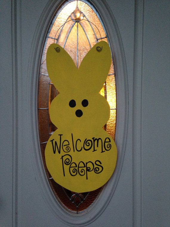 Bunny Door Hanger Rabbit Spring By KaleyLakayeKrafts