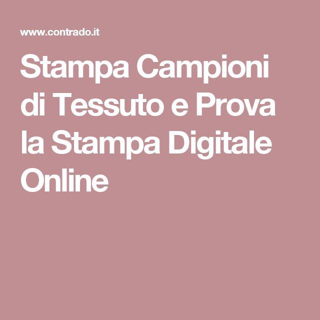 Stampa Campioni di Tessuto e Prova la Stampa Digitale Online