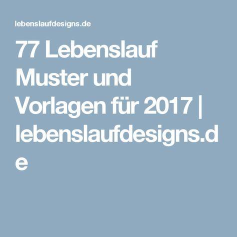 77 lebenslauf muster und vorlagen fr 2017 lebenslaufdesignsde