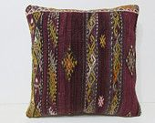 20x20 kilim pillow 20x20 large couch pillow 50x50 pillow cover large pillow sham pillowcase 20x20 decorative pillow red  pillow cover 28402