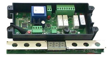 Electronic control system for blast chiller