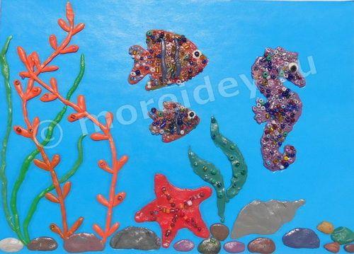 Поделки на морскую тему своими руками: морские поделки, поделка морское дно