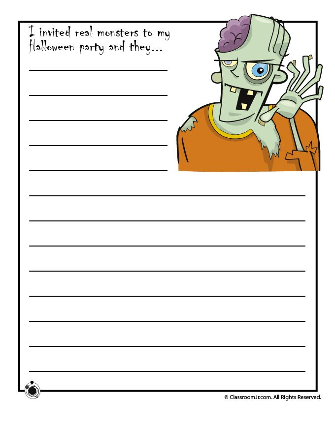 three halloween writing worksheets with ideas to help kids compose a story about halloween - Halloween Stories Kids