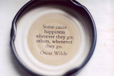 happiness is an oscar wilde quote.