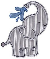 Elephant Machine Embroidery