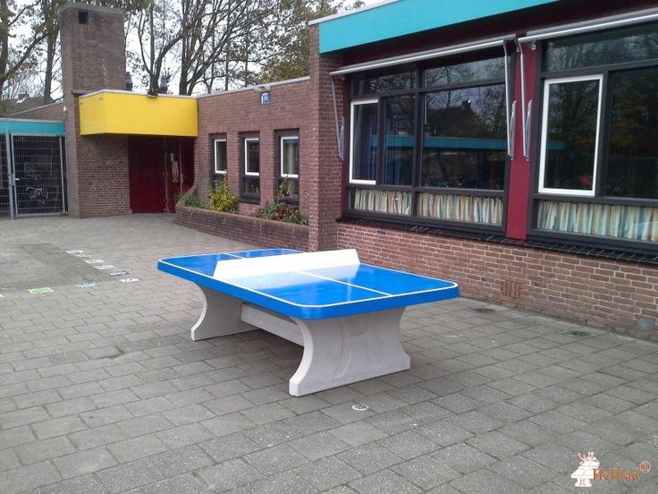 Pingpongtafel Afgerond Blauw bij RKBS De Duizend Eilanden in  Noord-Scharwoude
