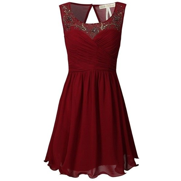 Perfect Christmas Party Dress ❤ liked on Polyvore featuring dresses, short dresses, red mini dress, red dress, short red dress and christmas dresses