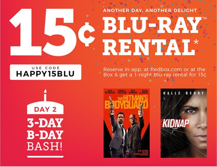 #RedBox New #BirthdayBash. $00.15 rentals Limit: 1 code per transaction. #PromoCode expires Tuesday 28 November 2017 11:59 P.M. Central Standard Time. https://itunes.apple.com/us/app/redbox/id339532909?mt=8 https://play.google.com/store/apps/details?id=com.redbox.android.activity #ezswag #savemoney #makemoney #hotdeals #moneytips