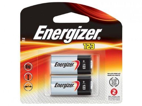 Energizer 123 Volt Lithium Photo Battery 2pk Energizer Battery Lithium Battery Energizer