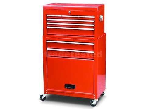 Tool Chest & Rolling Cabinet 8 Drawer Combo - Tool Cabinets & Chests - Storage & Shelving Trade Tested