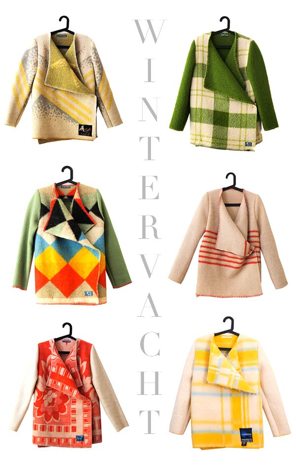 colorful blanket coats