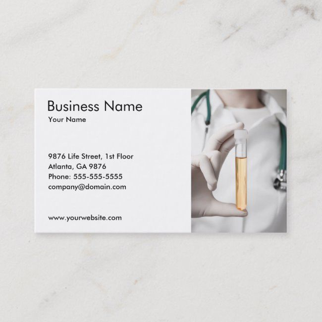 Urine Sample Business Card Template Zazzle Com Sample Business Cards Business Card Template Card Template