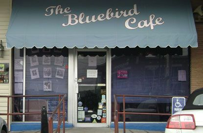 "Fans of ABC's TV drama ""Nashville"" will recognize the Bluebird Cafe. It's located in Nashville's Green Hills neighborhood. The Bluebird is the place to be heard if you're a songwriter!"