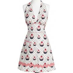 Jessie Steele Apron Bombshell Cherry Cupcake: Shop our Mother's Day Last-Minute Gift Boutique! #laylagrayce #giftboutique #mothersday $34.00