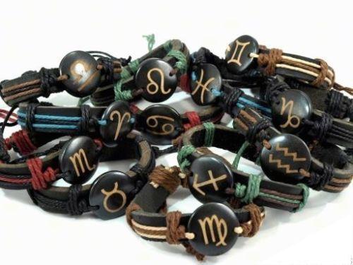 Armband, Sternzeichen, Leder, Eko Leder, Geschenk, Bio